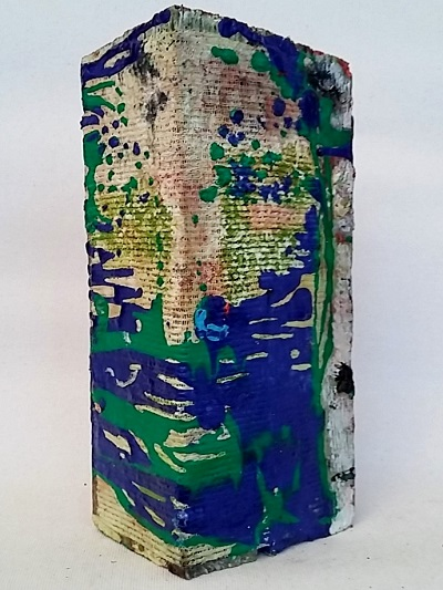 24. Acrylic on wood 30x15x10cm isecena